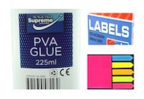 Adhesives, Sticky Notes & Labels
